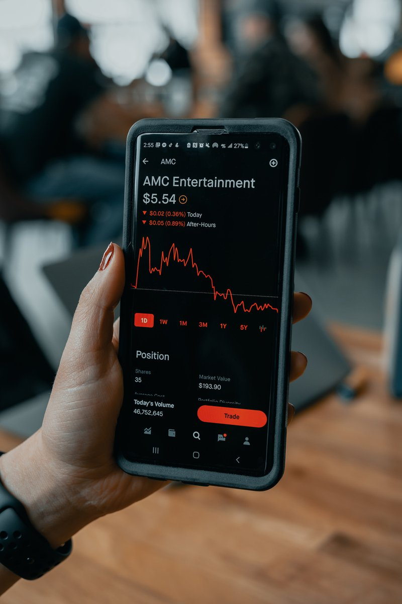 AMC stock falls down to $5.54 during sell-off   Via: Techdaily.ca  #stocks #amc #gme #finance #investors